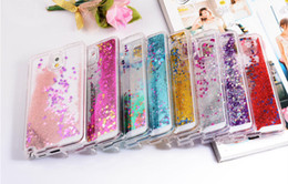 Wholesale Flow Case - Clear Transparent Glitter Stars Flow Liquid Quicksand Hard Case for Samsung Galaxy Note 8 S6 S6 S7 EDGE S8 iPhone 5 6 7 7plus