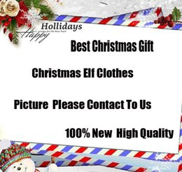 Wholesale Christmas Elf Clothes - Fast DHL 26 Style Elf Doll clothes Christmas Elf Plush toys On The Shelf Elves Xmas dolls clothes For Kids Holiday And Christmas Gift