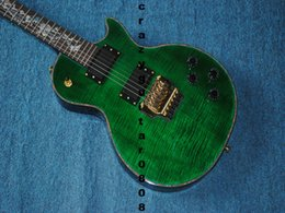 Wholesale Dragon Guitars - Custom Shop China 6 Strings Electric Guitar Green Tiger Flame Dragon Fingerboard Free shipping Guitar Factory Wholesale Guitars