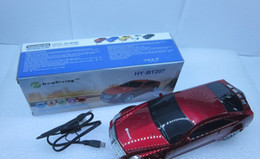 Wholesale Sound Box Price - Factory Price!!! Cheap Bluetooth speaker HY-BT107 HY-BT207 Mini Cadillac Car Model Speaker support TF Card Call Function Radio Screen DHL