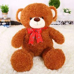 Wholesale Teddy Bears Small Size - 80cm The small size teddy bear plush toys High quality bowtie bear long plush doll stuffed animals doll birthday gift