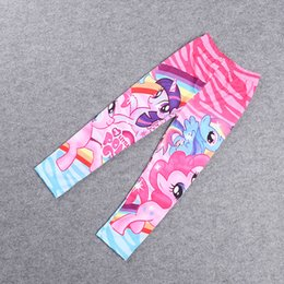 Wholesale Lycra Children Girl Leggings - New Girls Leggings Tights Pants Little Pony Cartoon Legging Render Pants Kids Children Lycra Tights Pants Leggings For 3-7 Years Old