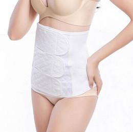 Wholesale Body Restraints - Cotton gauze postpartum corset belt restraint belt abdomen with gauze postpartum corset belt with a pregnant woman (white)