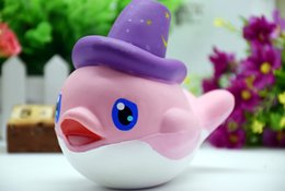 Wholesale Dolphin Ornament - Squishy resin crafts resin decoration ornaments cartoon PU slow rebound simulation toy dolphins Buck