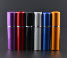 Wholesale Deluxe Atomizer - Perfume Atomizer New Arrival Metal Fashion 5ml Deluxe Travel Refillable Mini Atomiser Spray Perfume Bottle
