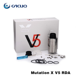 Wholesale Electronic Cigarette V5 Atomizer - electronic cigarettes Vaporizer Original Unicig Mutation X v5 RDA e cigs vape airflow adjustable atomizer suit eleaf istick vape mods