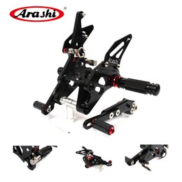 Wholesale Gsxr Foot Pegs - Arashi CNC Footrest Panel Rear Set Foot Peg Foot rest For Suzuki GSXR GSXR1000 GSX-R1000 1000 2009 2010 2011 2012 2013 2014 2015 2016