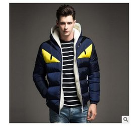 Wholesale Men Slim Winter Jackets - Wholesale- 2017 New Brand Men's Winter Jackets and Coats Fashion Hooded Men Jacket Causal Warm Coats for Male Thick Overcoats Cotton Padded