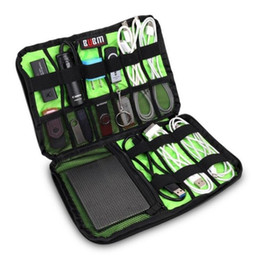 Wholesale Square Usb Drive - Large Cable Organizer Bags Can Put Hard Drive Cables USB Flash Drives Travel Case Digital Storage Bag Home Accesso