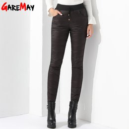 Wholesale Straight Pantalones - Winter Warm Pants Women Velvet Thickening Large Size Trousers High Waist Mom Down Pants Causal Slim Pantalones De Mujer GAREMAY
