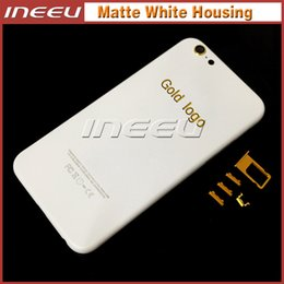 Wholesale Iphone Cover Button - Matte White Housing Cover For iPhone6 6 Plus 6S 6S Plus Aluminum Alloy Replacement Parts Faceplates with Buttons for Apple