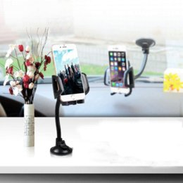 Wholesale Holder Car Telephone - Long Gooseneck Universal Car Windshield Sucker Mobile Cell Phone Mount Holder In Car Suporte Gps Telephone Voiture