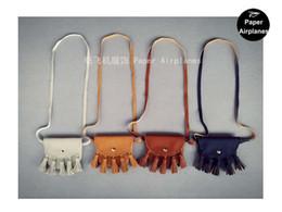 Wholesale Kids Handbags Messenger - 10pcs lot Fashion Baby Girls Coin Purses Handmade Kids Purses Handbags Girl Tassel Bag, Lace bags KIKIKIDS Wholesale