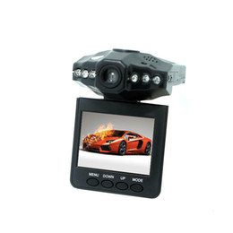 Wholesale Ir Camera Auto - H198 Car DVR with 2.5 Inch 270 Degree Rotated Screen 6 IR LED Cycle Recording Dash Cam Auto Camcorder Vehicle Black Box Camera