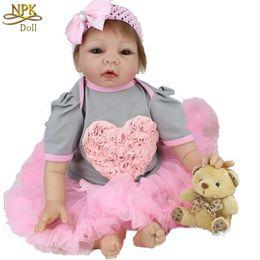 Wholesale Cheap Silicone Doll - 22 Inch 55cm Soft Vinyl Silicone Reborn Cheap Dolls Handmade Adora Child Love Dolls Kids Toy Baby Shower Gift