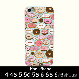 Wholesale Iphone Back 4s Style - Wholesale-donut wonderland Style Hard White Case Cover for iPhone 4 4s 5 5s 6 6s 6 plus Back Print Design