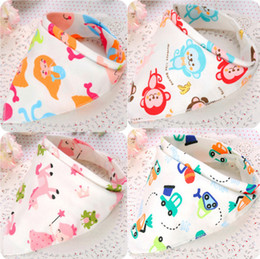 Wholesale Kerchief Bib Wholesale - 2016 wholesale kids Triangle Bib Bandana burp cloths Baby Cotton kerchief infant Saliva Bibs Pinafore Apron Baby Feeding 118