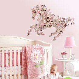 Wholesale self sat - Creative Wall Can Remove The Sticker Horse Pattern Bedroom A Sitting Room Background Wall Sticker Home Decoration