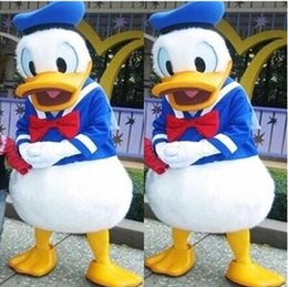 Wholesale Duck Costume Outfit Mascot - Donald Duck Mascot Costume Real Image Halloween Party Fancy Dress Complete Outfits Adult Clothing Free Shipping