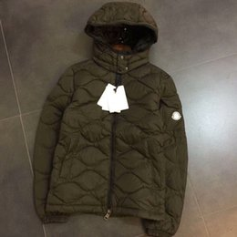 Wholesale Warm Army Jacket - Fashion Winter Classic Down Jacket Diamond Lattice Men's Warm Mon Thomas Hooded Discount Luxury Brand Jackets For Men Coats Hot Sale