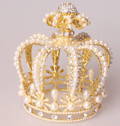 Wholesale Classic Queen - Luxury Great quality Baroque styles Vintage Wedding Crown Alloy Bridal Tiara Baroque Queen Crowns