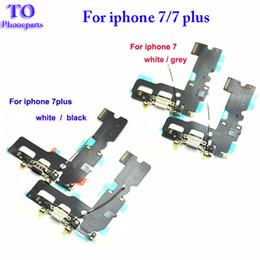 Connecteur du port de charge chargeur en Ligne-Nouveau chargeur USB Charging Connector Dock Port Flex Cable Remplacement pour iPhone 7 4.7inch 7 plus 5.5inch Accessoires Pièces