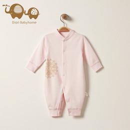 0-1 год, комбинезон младенца, вползая одежды, хлопок, 2 цвета, 4 вида спецификаций от
