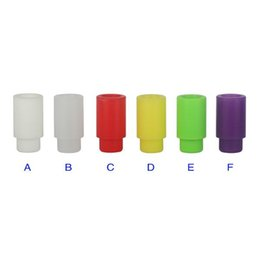 Wholesale E Cig Covers - New Individually wrapped Plastic drip tips mouthpiece 510 drip tips caps silicone drip tips cover for Clearomizer Atomizer Disposable E Cig