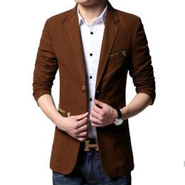 Venta al por mayor-caliente 2016 nueva marca de moda Sping Blazer hombres de algodón chaqueta de traje ocasional hombres trajes casuales Fit dos hombres del botón del juego hombres 6XL desde fabricantes