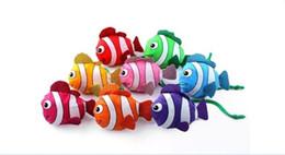 Wholesale Fishing Shopping - 400pcs 38cm x58cm Bags mic New 10 Colors Tropical Fish Foldable Eco Reusable Shopping Bags D938