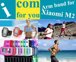 Wholesale Mi2 Case - Wholesale-Sweatproof Solf Belt Armband Running bag Sports Gym Arm Band Case for Xiaomi M2 Mi2 M2S M1S M1 Necessary gadget
