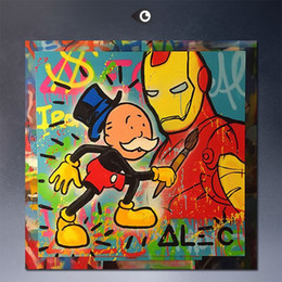 Wholesale Wall Street Canvas - machines Alec monopoly wall street art canvas print POP ART Giclee poster print on canvas for wall painting abstract art