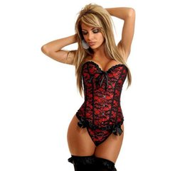 Wholesale Bridal Lingerie Red - Plus Size S-6XL Women Sport Waist Trainer Cincher Underbust Corset Body Shaper Shapewear Wedding Corset Tops bridal bustier Lingerie