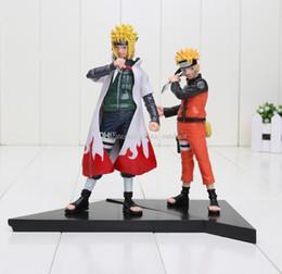 Wholesale Naruto Minato - 2pcs set Japanese Anime Naruto Shippuden Uzumaki & Minato Namikaze Collection Figure toy kids toys children gift Free Shipping