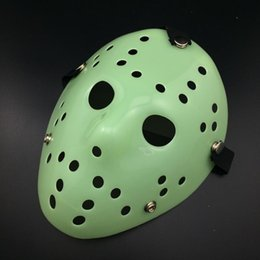 2020 mascara de jason completa Máscara arcaica de Jason Máscara de asesino antiguo de cara completa Jason vs Friday The 13th Prop Horror Hockey Disfraz de Halloween Máscara de cosplay en stock DHL rebajas mascara de jason completa