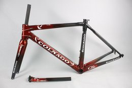 Wholesale Aero Road Bike Frame - Carbon frames C5 racing bike frame super light aero design carbon road frame BB386 cycling frameset EMS free shipping