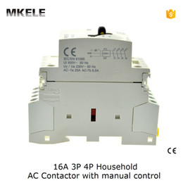 Wholesale Ac Rail - Wholesale-MKWCT-16M 3P 16A 24V 48V 110V 220V 240V 400V 50or60HZ Din Rail Household AC Contactor Operated By Manual Control contator