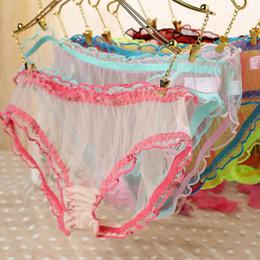 Wholesale Lingerie Sheer Panties - New Hot Fashion Womens Sexy Panties Briefs Lace Sheer Knickers Bikini Lingerie Underwear