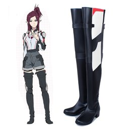 Zapatos hechos a mano cosplay online-Exclusivo Anime COS Super Dimensional Fortress Macross Mylene Flare Jenius Cosplay Shoes Botas largas Accesorios Personalizar Hecho a mano