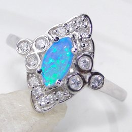 Wholesale Opal Turtle - 2016 New Fashion jewelry 925 Sterling Silver Ring Blue OPAL Sea turtle Rhodium plating Wedding gifts AGR381 size6.7.8.9 Free shipping