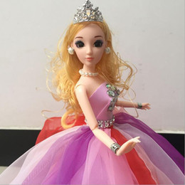 Wholesale Best High Quality Wedding Dresses - 48cm Cute Pretty Doll Toys High Quality Body Princess Wedding Dress Dolls Best Gift for Girl Kids White Color
