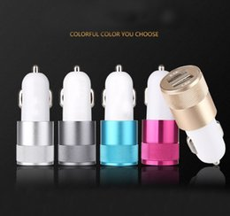 Wholesale Apple Ipad Usb Adapter - For Apple iPhone iPad   Samsung Galaxy   Motorola Droid Nokia Htc Car Charger Charger Adapter Best Metal Dual USB 12 Volt   1 ~ 2 Amp