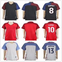 Wholesale Usa Home Jersey - 2017 2018 Kids Football Jersey ZARDES PULISIC DEMPSEY USA LLOYD MORGAN BRADLEY ALTIDORE Kid Youth Custom Home Away Soccer Shirt