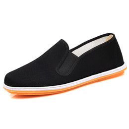 Wholesale Handmade Canvas Shoes - Handmade Middle-aged black Casual Deodorant light cloth shoes for men