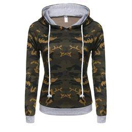 Wholesale Womens Thick Hoodies - Fashion European New style girls floral print camouflage color hoodie sweatshirt womens O-neck hoodies long sleeve sweatshirts for womens