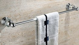 Wholesale Crystal Towel Rack - Free Shipping Single Towel Bar,Towel Holder, Towel rack Solid Brass & Crystal Made chrome Finished GY003