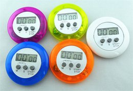 Wholesale Wholesale Kitchen Timers - Digital LCD Kitchen Countdown 5 Colors Stopwatch Cooking Count Down Clip Timer alarm kitchen using best kitchen timers 100pcs