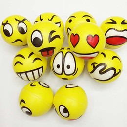 Wholesale Emotional Toys - Emoji Face Squeeze Balls Stress Relax Emotional Hand Wrist Exercise Decompression Toys Balls Halloween Christmas Party Gifts Free Shipping