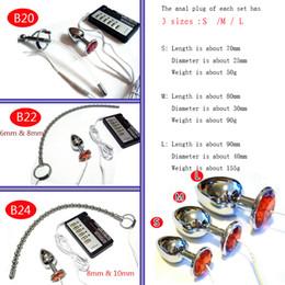 Wholesale electric male shocking sex - DIY Electric Urethral Sound Massger Slim Pulse Stimulate Electro Shock Urethral Catheter Penis Plug Dilator Sex Toys For Men A244-8 B