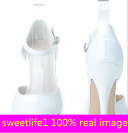 Wholesale Cheap Heels Shoes For Women - 0255-26 Elegant Fashion High Heels Wedding Dresses Buckle Strap Pointed Toe For Women Party Prom Evening Occasion Shoes High Quality Cheap